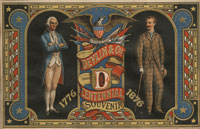 """Centennial Souvenir"" trade card"