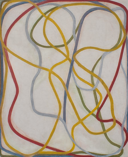 Skull with Thought, 1993–1995, by Brice Marden