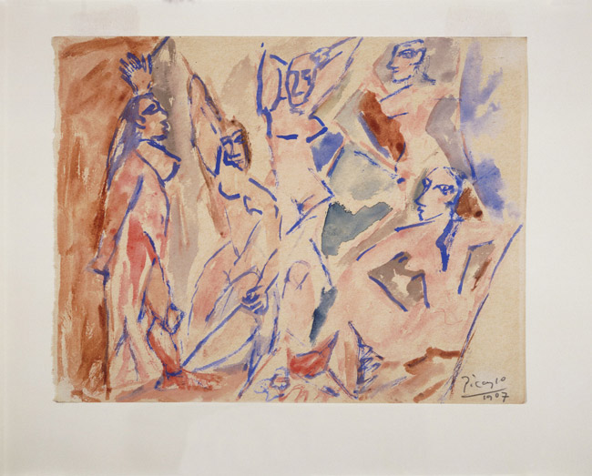 "Five Nudes (Study for ""Les Demoiselles d'Avignon"")"