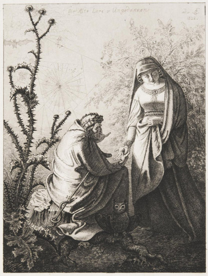 An Old Gypsy Telling the Fortune of a Young Noblewoman