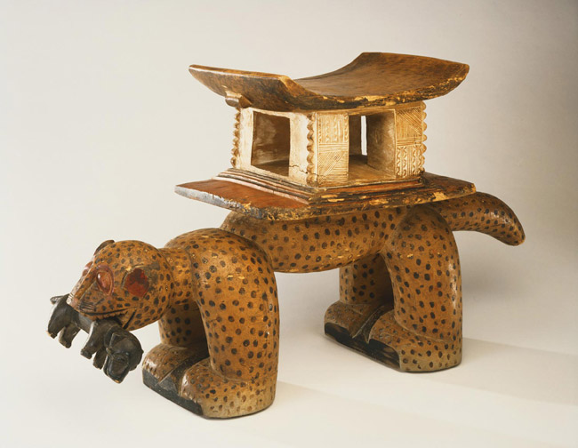 Leopard stool (royal seat)