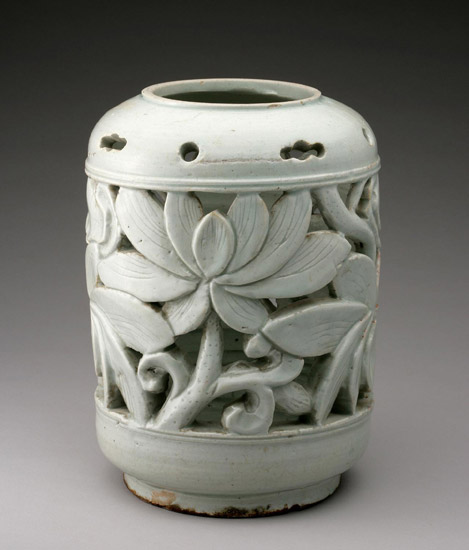 Flowerpot Stand with Lotus Blossoms